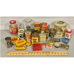 LOT OF COLLECTIBLE TINS & JARS