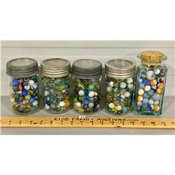 QTY OF COLLECTABLE VINTAGE MARBLES