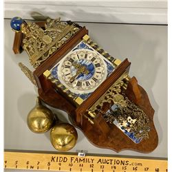 DANISH DELFT STYLE CLOCK W/ WEIGHTS