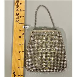 1920'S BEADED CRYSTAL EVENING PURSE