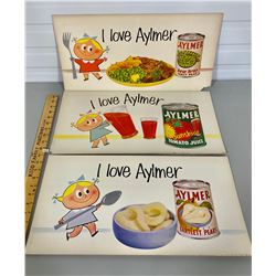 LOT OF 3 ADVERTISING BOARDS - AYLMER FOODS