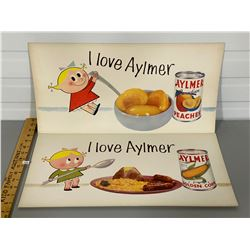 LOT OF 2 ADVERTISING BOARDS - AYLMER FOODS