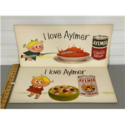 LOT OF 2 ADVERTISING BOARDS - AYLMER FOODS