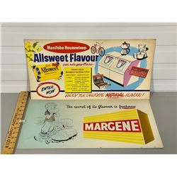 LOT OF 2 ADVERTISING BOARDS - FOOD