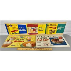 LOT OF 3 ADVERTISING BOARDS - BAKING SUPPLIES