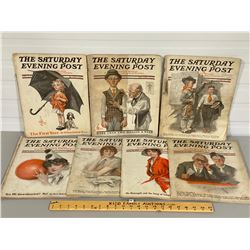 LOT OF 7 SATURDAY EVENING POSTS - 1914 TO 1917
