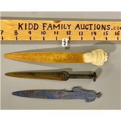 LOT OF 3 VINTAGE LETTER OPENERS