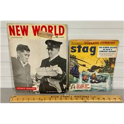LOT OF 2 VINTAGE ISSUES OF SATG & NEW WORLD MAGAZINES