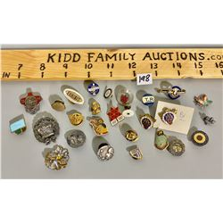 LOT OF 27 MISC PINS - CANADIAN PACIFIC, ETC