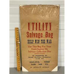 WAR TIME SALVAGE BAG
