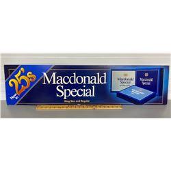 VINTAGE MACDONALD'S CIGARETTES AD BOARD