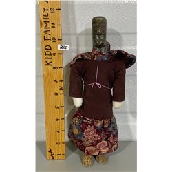 HANDCRAFTED NATIVE DOLL W/ SOAPSTONE HEAD