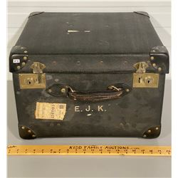 BRITISH LEATHER TRAVELLERS TRUNK