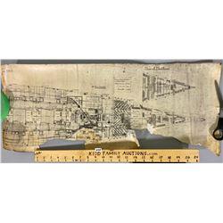 1899 CONSTRUCTION SCROLL OF THE NIOBE - PLATFORM DECK