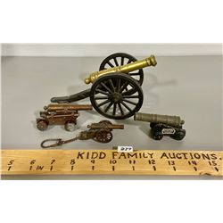 LOT OF 4 CAST CANNONS