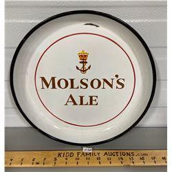 MOLSON'S ALE ENAMEL BEER TRAY