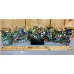 QTY OF COLLECTIBLE MARBLES