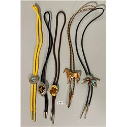 LOT OF 5 BOLO TIES