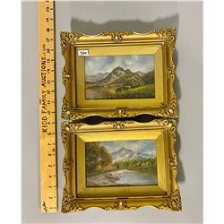 LOT OF 2 GILT FRAMED SCOTTISH PAINTINGS