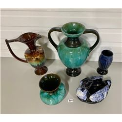 LOT OF 5 BLUE MOUNTAIN POTTERY STYLE PIECES