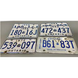 LOT OF ONTARIO LICENCE PLATES