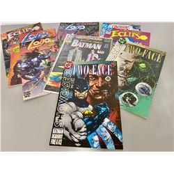 QTY OF DC COMICS - BATMAN, TW0-FACE, LOBO, ETC