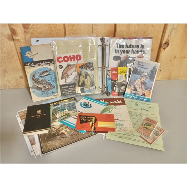 LARGE QTY OF VINTAGE FISHING COLLECTIBLES