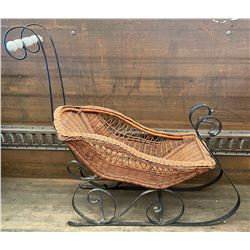 ANTIQUE WICKER BABY SEIGH