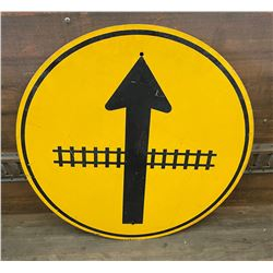 RAIL CROSSING ROAD SIGN - 30 INCHES ACROSS