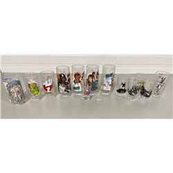 LOT OF 13 COLLECTIBLE MOVIE THEMED GLASSES