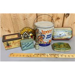 LOT 7 COLLECTIBLE TINS