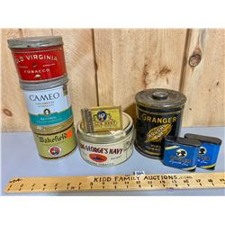 LOT OF 8 MISC TOBACCO TINS