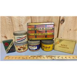 LOT OF 7 MISC TOBACCO TINS - MONTREAL