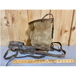 BELL TELEPHONE POLE CLIMBING SYSTEM  & CANVAS TOOL SACK