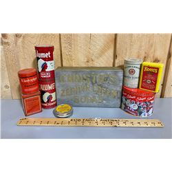MISC LOT OF TINS