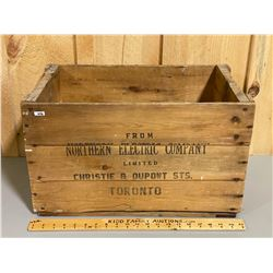 NORTHERN ELECTRIC CO CRATE - TORONTO