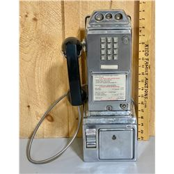 VINTAGE CHROME NORTHERN ELECTRIC PAYPHONE