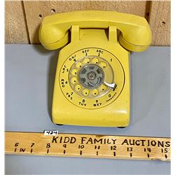 BAKELITE GOLD COLOUR ROTARY PHONE