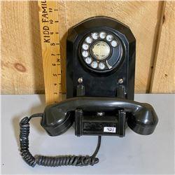 VINTAGE BAKELITE ROTARY WALL PHONE