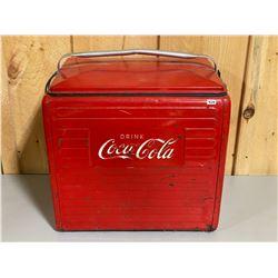 1958 - COCA-COLA CAMP COOLER W/ TRAY