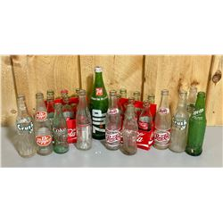 QTY OF VINTAGE POP BOTTLES