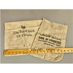 VINTAGE MONEY SACKS - RBC & BANK OF COMMERCE