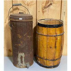 LOT OF 2 - NAIL KEG & CREAM CAN