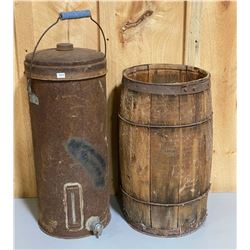 LOT OF 2 - NAIL KEG & CREAM CAN W/ SPOUT