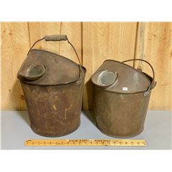 LOT OF 2 VINTAGE SIFTING PAILS