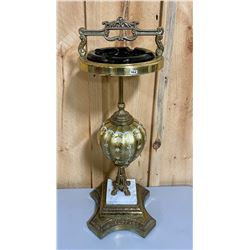 VINTAGE GILT ASHTRAY STAND - 29""