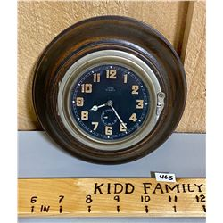 ANTIQUE LUNOX 8 DAY WALL CLOCK  - SWISS MADE.