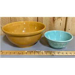 LOT OF 2 CERAMIC MIXING BOWLS