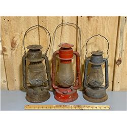 LOT OF 3 - LANTERNS - BEACON, GSW, CRESSENT