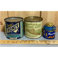 LOT OF 3 TINS